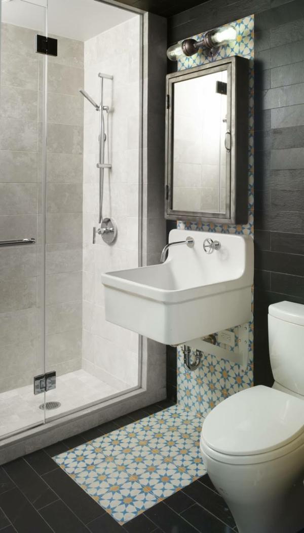 kleines badezimmer einrichten ideen wandgestaltung fliesen duschkabine - Badezimmer Ideen Fr Kleine Bder
