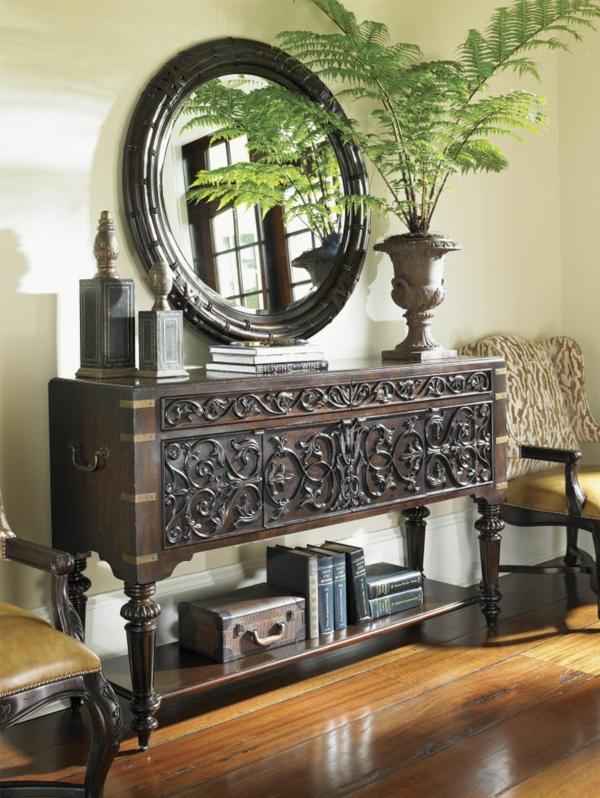 kolonial möbel design einrichtung wohnzimmer holz kolonialstil ideen