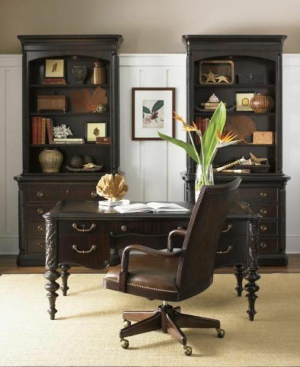kolonial möbel einrichtungsideen holz möbel arbeitszimmer büroeinrichtung