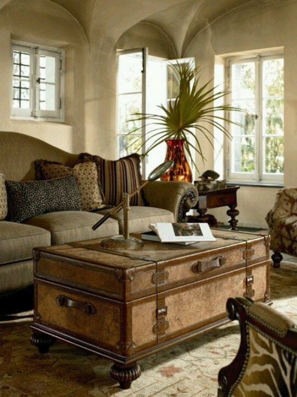 kolonialmöbel wohnzimmer einrichtung couchtisch holz teppich