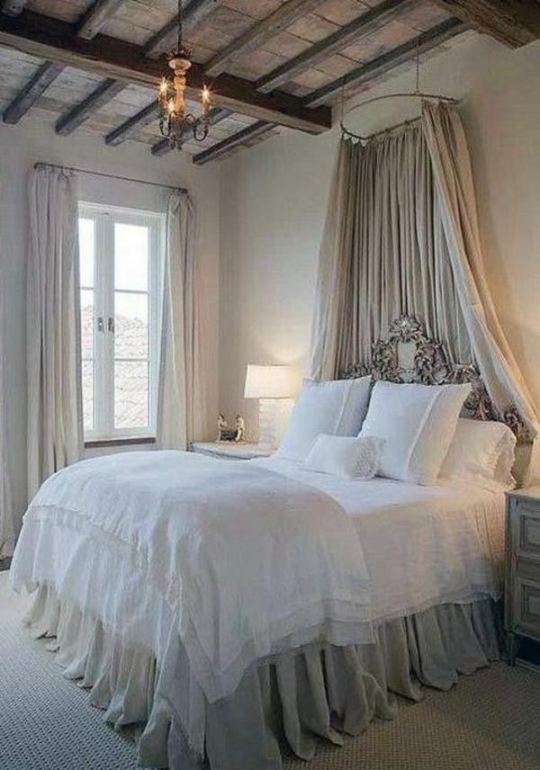 kolonialstil möbel einrichtungsideen schlafzimmer baldachinbett