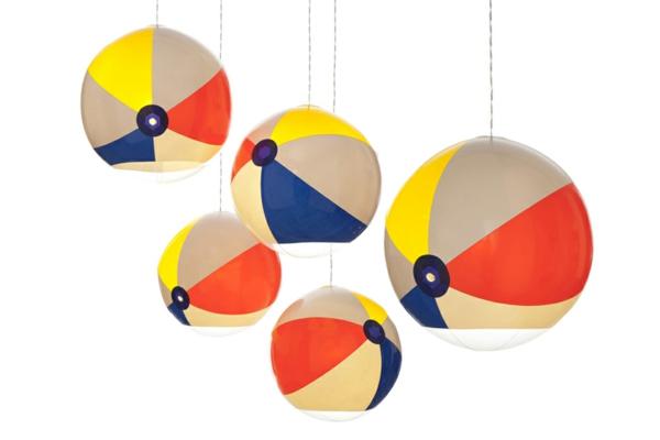 lampen und leuchten kugel pendelleuchte strandball wasserball aufblasbar