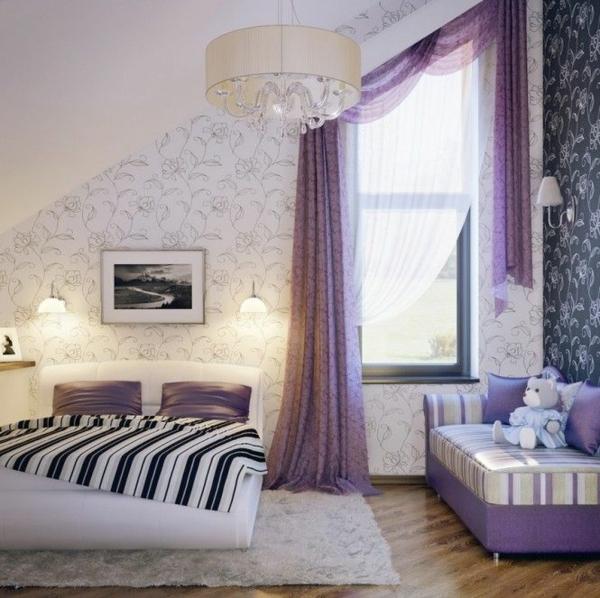 Dachgeschoss Schlafzimmer Design Und Das Beste Von: Hauchdünne Stoffe Und Feminines Flair