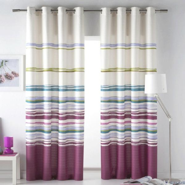 streifen gardinen fenster vorhänge schlafzimmer farben