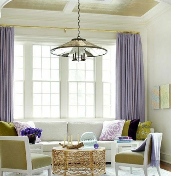 hell farben gardinen fenster vorhänge schlafzimmer hängelampe