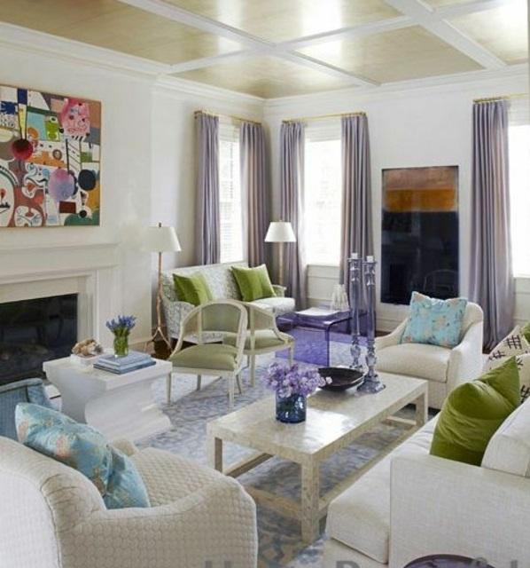 lila gardinen fenster vorhänge schlafzimmer möbel