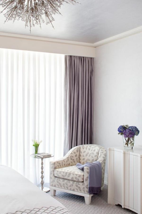 lila gardinen fenster vorhänge schlafzimmer weiß