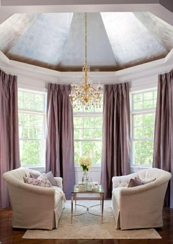 kronleuchter gardinen fenster vorhänge schlafzimmer zimmerdecke
