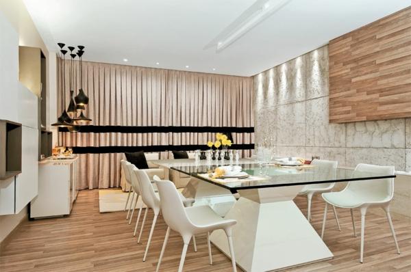 luxus esszimmer holzhoden esszimmertische mit stühlen esstisch glasscheibe
