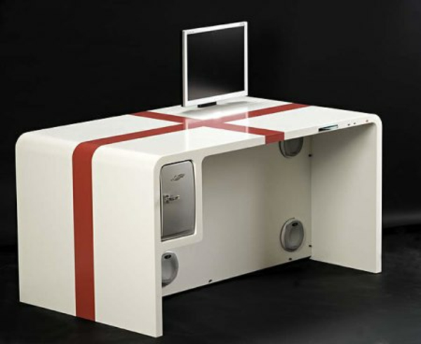 moderne computertische pc tisc weiß moderne büroeinrichtung möbel