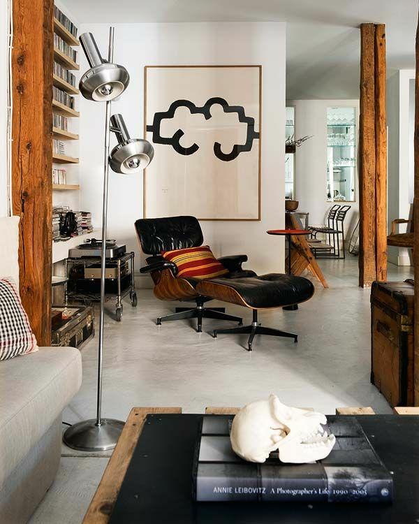 moderne relaxliegen wohnzimmer modern einrichten entspannungsecke gestalten