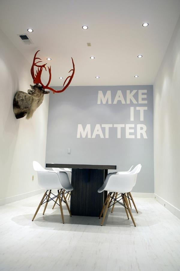 Moderne Wandgestaltung Esszimmertisch Mit Stühlen Wandgestaltung Mit Farbe