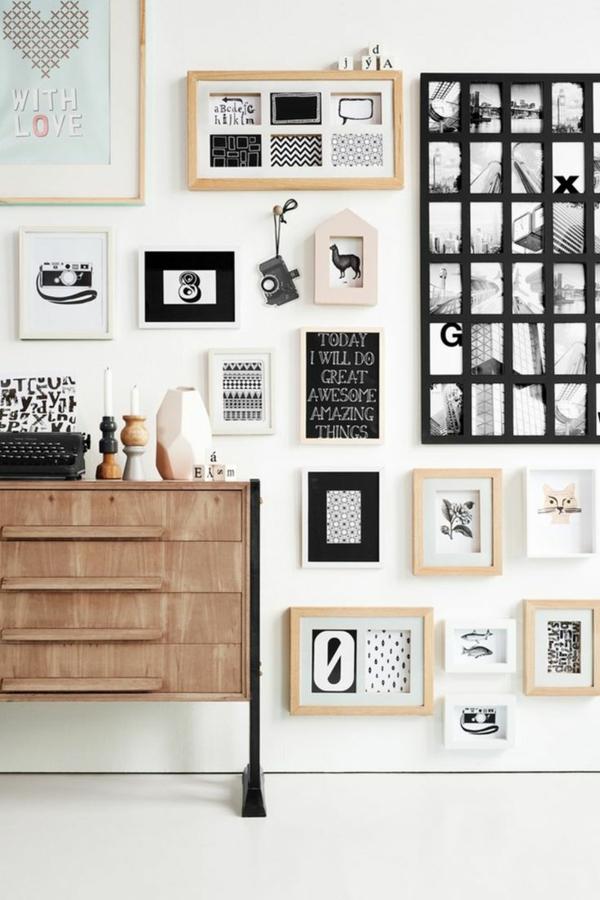 Moderne Wandgestaltung Mit Bildern Wohnzimmer Wände Gestalten