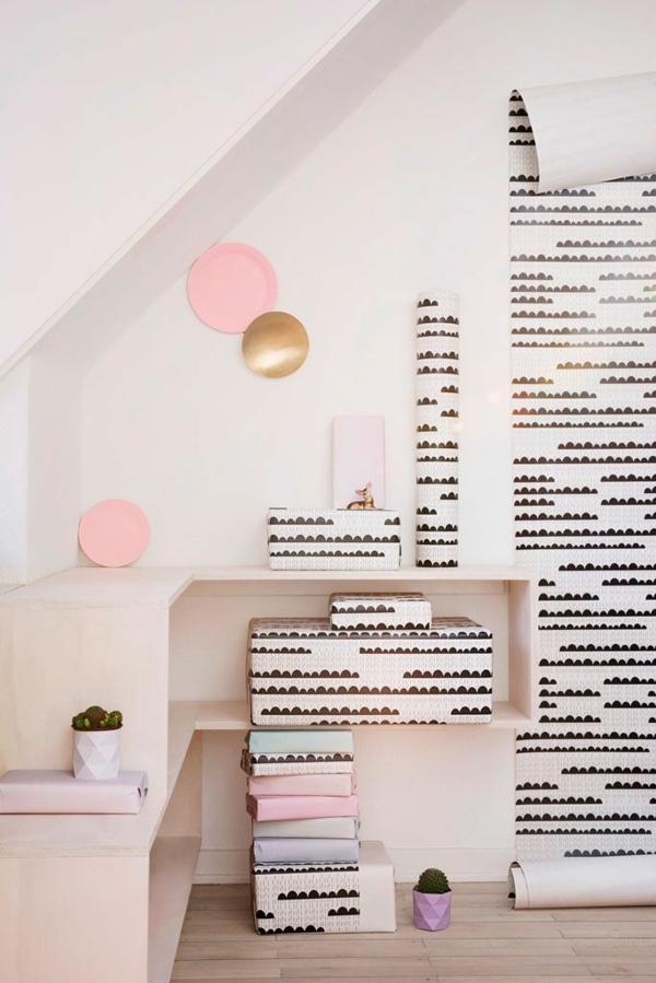 moderne wandgestaltung mit tapeten wohnzimmer wände gestalten