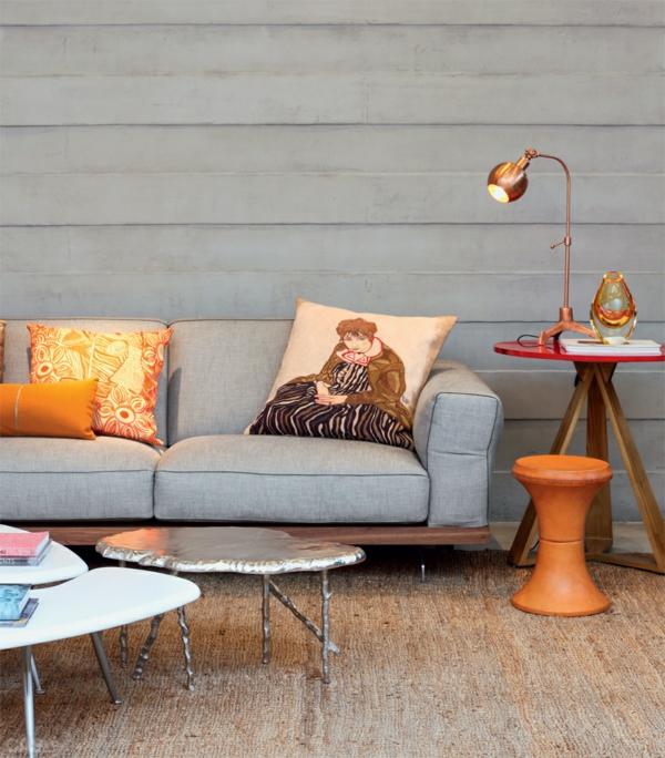 moderne wandgestaltung wohnzimmer sofa couchtisch wandverkleidung holz - Moderne Wandgestaltung Wohnzimmer