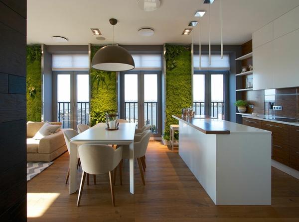 moderne wohnideen kche vertikaler garten - Moderne Wohnideen
