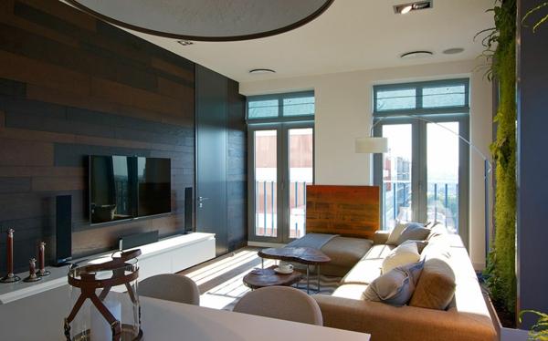 moderne wohnideen - richtig beleuchteter vertikaler garten zu hause, Modern Dekoo