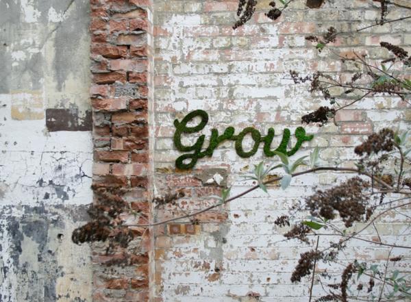 moos graffiti erstellen und eine gr ne botschaft ausrichten. Black Bedroom Furniture Sets. Home Design Ideas