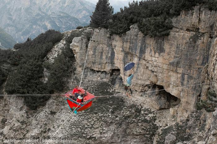 outdoor hängematte highline meeting italienische alpen festival extremsport hängematten