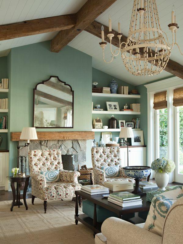 pastellgrüne wandfareb fürs wohnzimmer