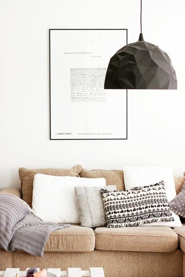 Pendelleuchten Wohnzimmerlampe Metall Lampenschirm Schwarz