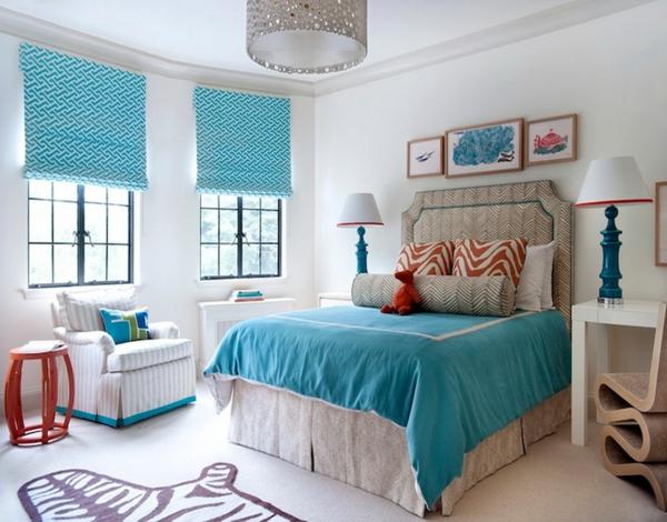 Wohnideen Schlafzimmer Türkis vorhänge türkis lassen sie jeden raum edel aussehen