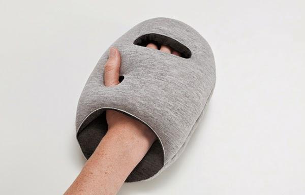 reisekissen designer kissen Ostrich Pillow Mini handschuh