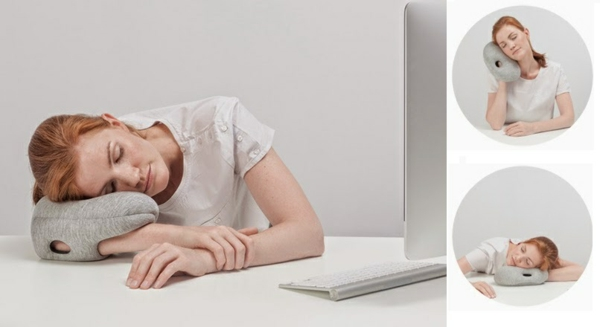 reisekissen ostrich pillow f r ein nickerchen unterwegs oder im b ro. Black Bedroom Furniture Sets. Home Design Ideas