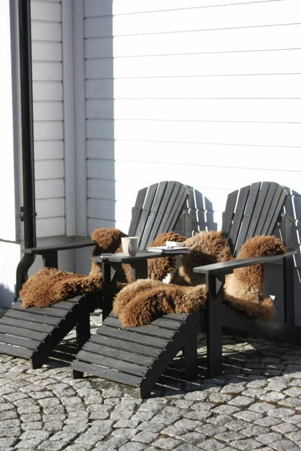 Relaxliegen Garten Holz Lounge Möbel Gartenmöbel Set