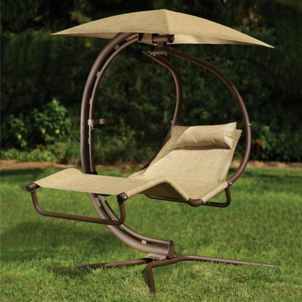 relaxliegen gartenideen lounge möbel sonnenschutz