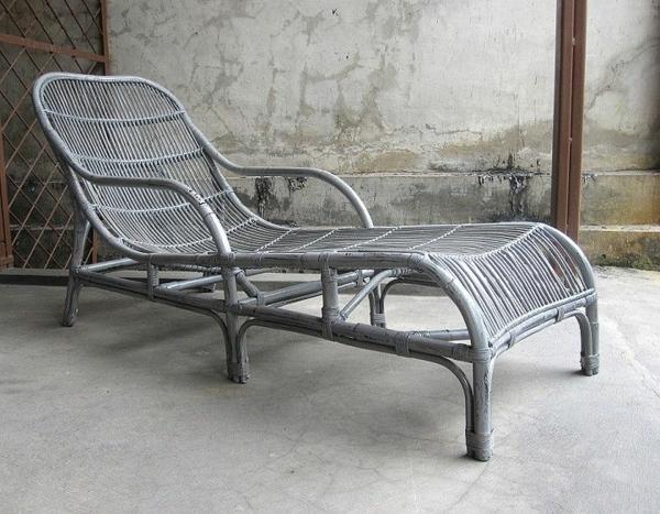 relaxliege garten rattan lounge möbel