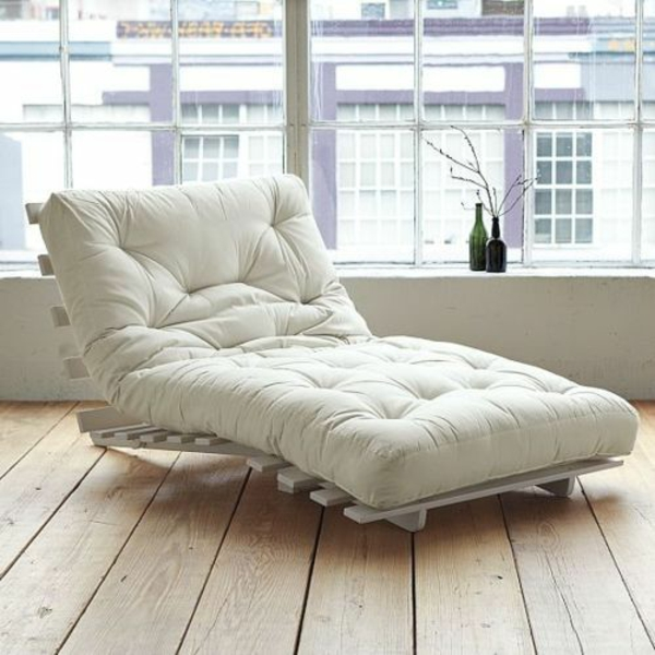 relaxliegen wohnzimmer weiß einrichtungsideen lounge möbel
