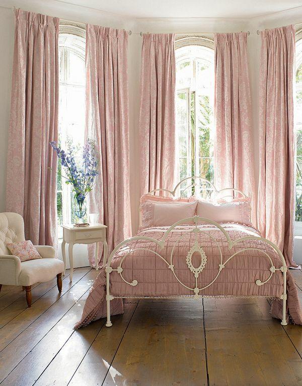 Schlafzimmer romantisch rosa  Gardinen Rosa - die romantischen Farbnuancen schlechthin!