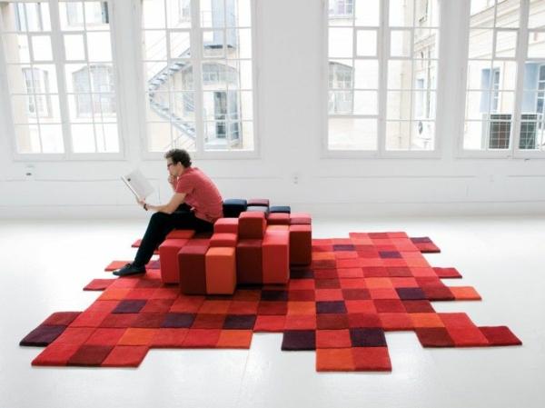 weich raum rote sofas teppiche polsterung hocker modular