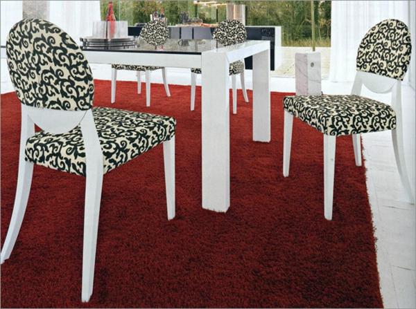 schwarz weiß muster teppiche weich raum sofas polsterung stühle küche