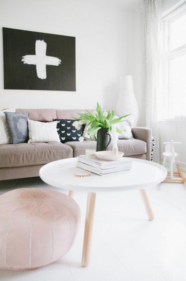 Runde Couchtische Holz Beine Wohnzimmer Modern Einrichten