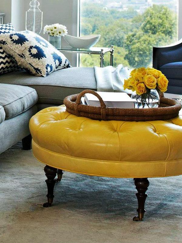 Couchtisch rund der hingucker in ihrem wohnzimmer for Couchtisch yellow