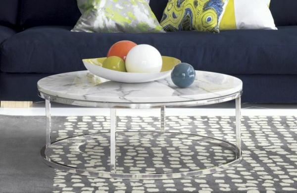 Couchtisch rund der hingucker in ihrem wohnzimmer for Couchtisch rund marmor