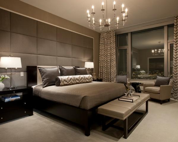schlafzimmer einrichtungsideen wandfarbe brauntöne