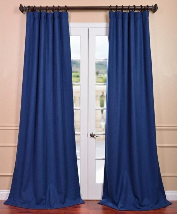 schlafzimmer gardinen ideen fertiggardinen moderne vorhänge blau