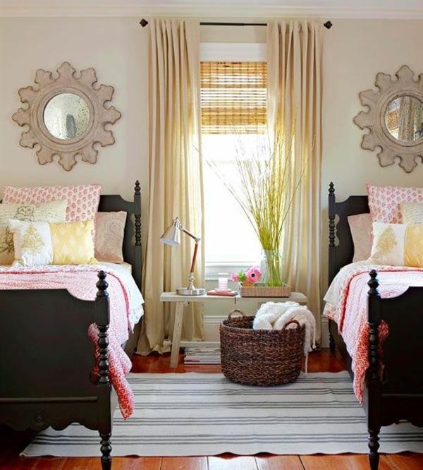 schlafzimmer gardinen ideen fertiggardinen moderne vorhänge rattan storen