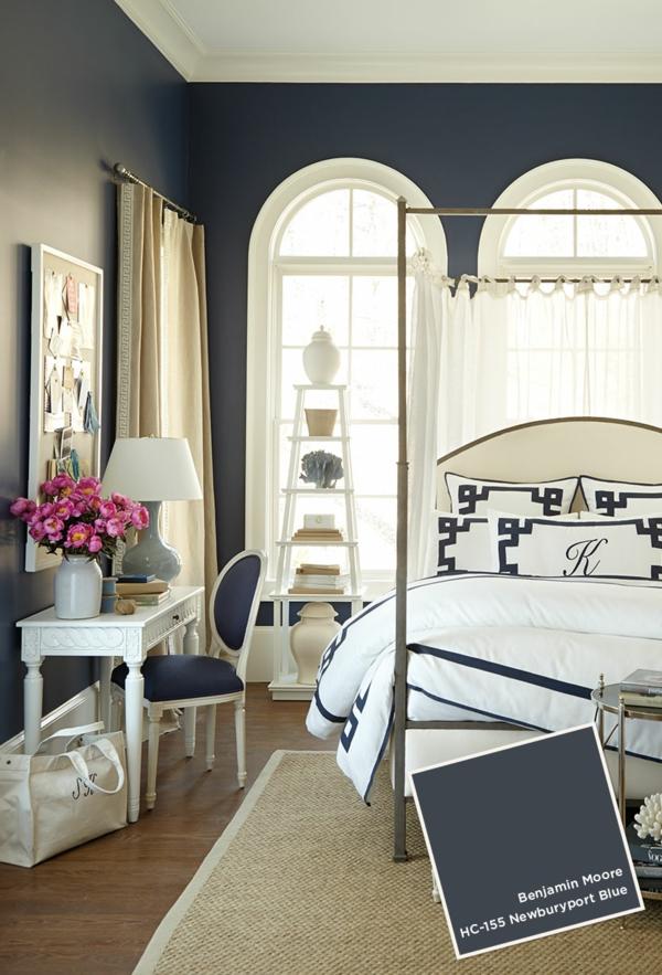 schlafzimmer ideen wandfarbe banjamin moore wände streichen