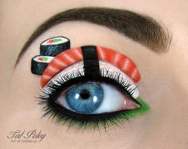 sushi abbildung augen schminken