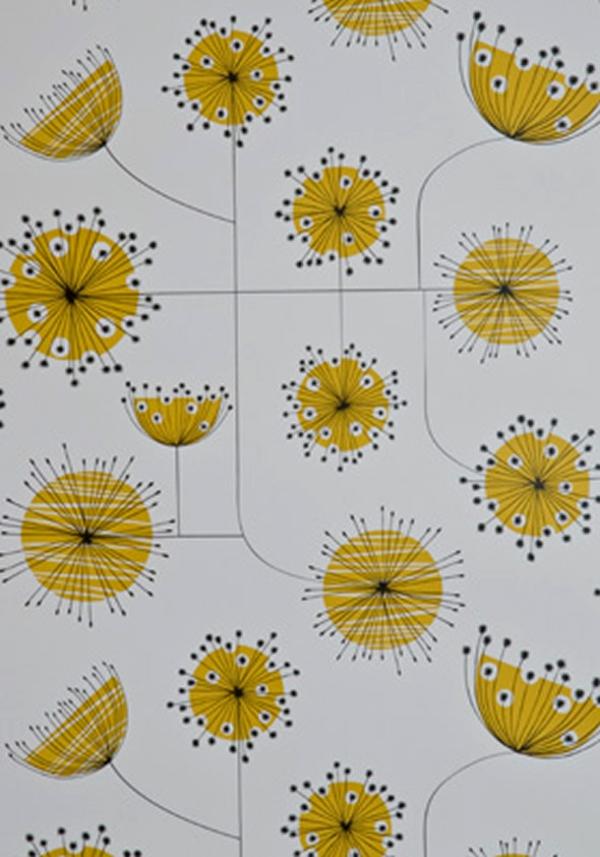 tapeten wohnzimmer gelb kreatives haus design