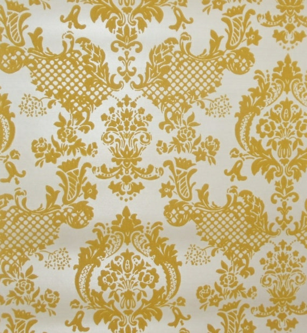 tapeten muster tepete gelb wandtapeten wandgestaltung