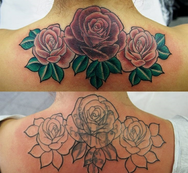 tattoo farbe farbige rosen alter tattoo korrigieren