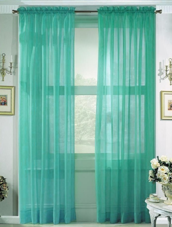 vorhänge türkis organza gardinen transparente gardinen