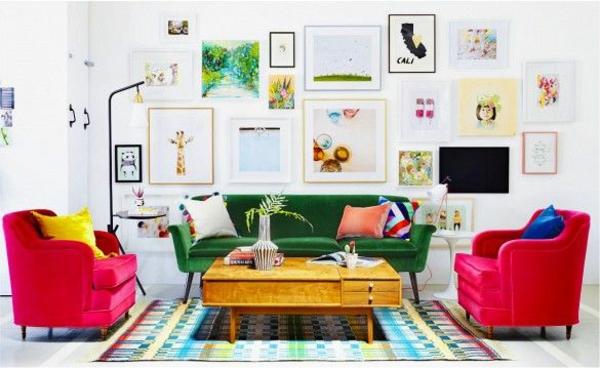 wanddeko ideen wohnzimmer möbel wanddekoration bilder