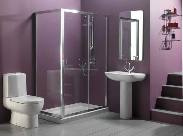 Wandfarbe Badezimmer Dunkle Wandfarben Bad Lila Purpur Trendfarbe 2014