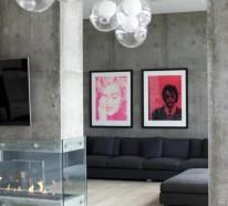 Wandfarbe Beton – wie kann man eine Betonwand streichen?